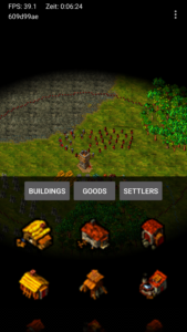 JSettlers Android Buildings Menu